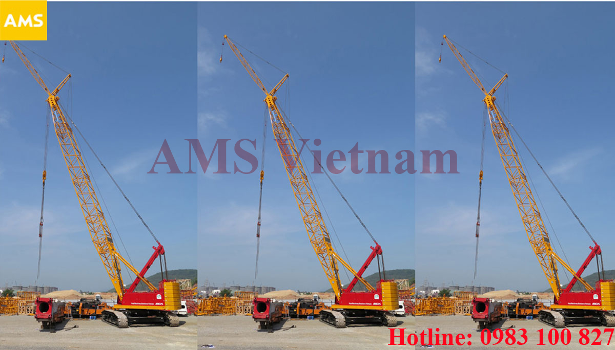 150ton crawler crane for rent in Vietnam - AMS Vietnam